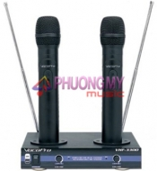 VocoPro VHF-3300 Dual Wireless Rechargable Mic System